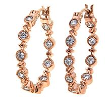 """Leslie Greene 0.6ctw Cubic Zirconia """"Orsay"""" Rose Gold-Plated Earrings"""