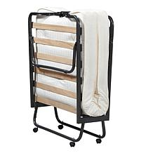 Linon Home Nelson Folding Bed with Memory Foam - White