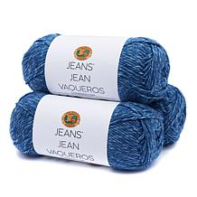 Lion Brand® Jeans® Acrylic Yarn 3-pack