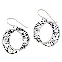 LiPaz Sterling Silver Twisted Scroll Drop Earrings