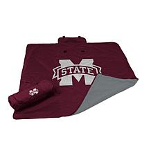 Logo Chair All-Weather Blanket - Mississippi State Un.