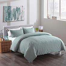 Messy Bed Washed Cotton Duvet Cover and Sham Set
