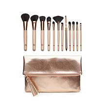 Luke Henderson 12-piece Brush Set with Rose Gold Clutch