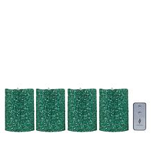 "Luminara 5"" Moving Flame Glitter Candle - 4-pack"