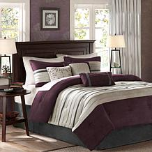 Madison Park Palmer Comforter Set Queen Plum