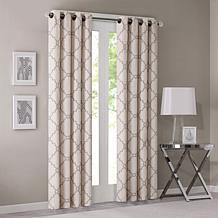 Madison Park Fretwork Print Beige Window Curtain