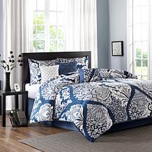 Madison Park Vienna 7-piece Cotton Comforter Set - Indigo,