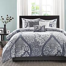 Madison Park Vienna Gray Comforter Set - Cal King