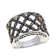 Marcasite Woven Band Ring 10
