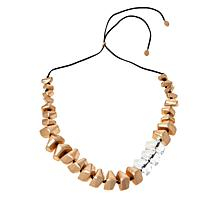 """MarlaWynne 50"""" Mixed Graduated Clear Acrylic Station Necklace"""