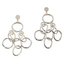 MarlaWynne Circle Link Chandelier Earrings