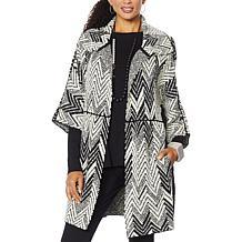 MarlaWynne Jacquard Sweater Knit Topper