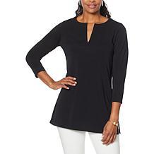 MarlaWynne Luxe Jersey Knit 3/4-Sleeve Tunic