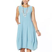 MarlaWynne Matte Jersey Sleeveless Dress with Pockets