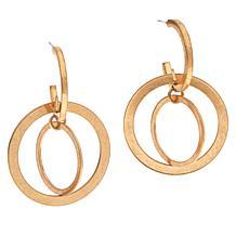 MarlaWynne  Matte Multi-Link Drop Earrings