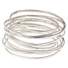 MarlaWynne Satin-Finish Infinity Bangle Bracelet