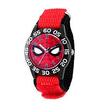 Marvel Spider Man Kids Time Teacher Watch Red Hook and Loop Strap