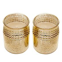 Matchless 2-piece Push Button Mercury Glass LED Candles