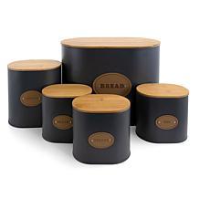 MegaChef Kitchen Food Storage and Organization 5 Piece Canister Set...