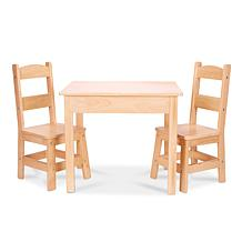 Melissa & Doug Wooden Table & Chairs Set