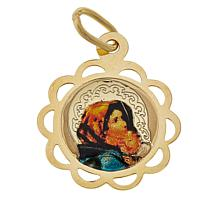 Michael Anthony Jewelry® 10K Gold Madonna and Child Medallion Pendant