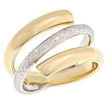 Michael Anthony Jewelry® 10K Two-Tone Crossover Bypass Ring