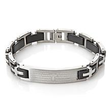Michael Anthony Jewelry® Men's Lord's Prayer Stainless Steel Bracelet