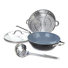 "Ming Diamond 12"" Wok Set Rchprp"