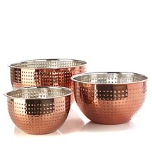 Mingtsai Hammered 3pc Bowl Set Cppbrn