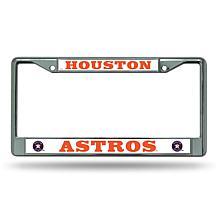 MLB Chrome License Plate Frame - Astros