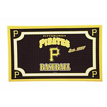 MLB Embossed Door Mat - Pittsburgh Pirates