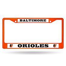 MLB Orange Chrome License Plate Frame - Orioles