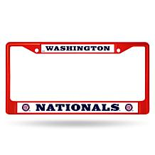 MLB Red Chrome License Plate Frame - Nationals