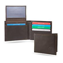 MLB Sparo Shield Leather Billfold - Cubs