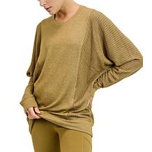 Mono B Mixed Hacci Round-Neck Sweater