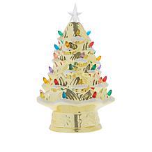"Mr. Christmas 13"" Nostalgic Ceramic Christmas Tree"