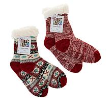 MUK LUKS 2-pack Patterned Cabin Socks