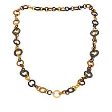 """Natural Beauties Buffalo Horn and Crystal Link 34"""" Necklace"""