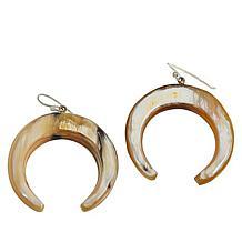 Natural Beauties Watusi Horn Crescent Dangle Drop Earrings