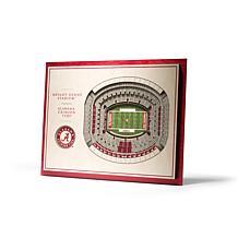 NCAA AL Crimson Tide StadiumViews 3-D Wall Art - Bryant-Denny Stadium