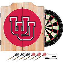 NCAA Dart Cabinet with Darts and Board - Univ of Utah