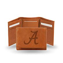 NCAA Embossed Leather Trifold Wallet - Alabama
