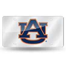 NCAA Laser Tag Silver License Plate - Auburn