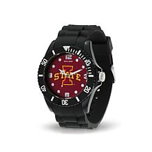 NCAA Team Logo Spirit Black Rubber Strap Sports Watch - Iowa State