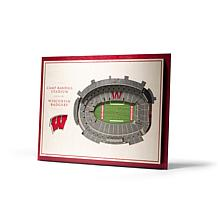 NCAA Wisconsin Badgers StadiumViews 3-D Wall Art- Camp Randall Stad...