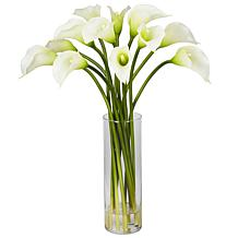 Nearly Natural Mini Calla Lily Silk Flower Arrangement