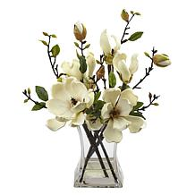 Nearly Natural Silk Magnolia Arrangement
