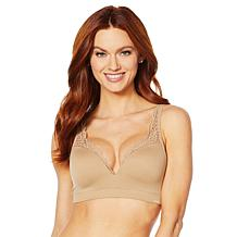Nearly Nude Seamless Lace Lace Trim Wirefree Bra
