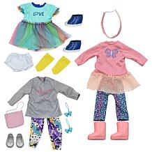 New Adventures 3-pack Style Girls Butterfly Doll Outfits