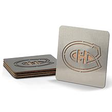 NHL Boasters 4-piece Coaster Set - Montreal Canadiens